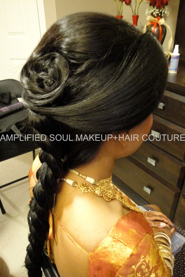 sri lankan/south indian bridal hair design –